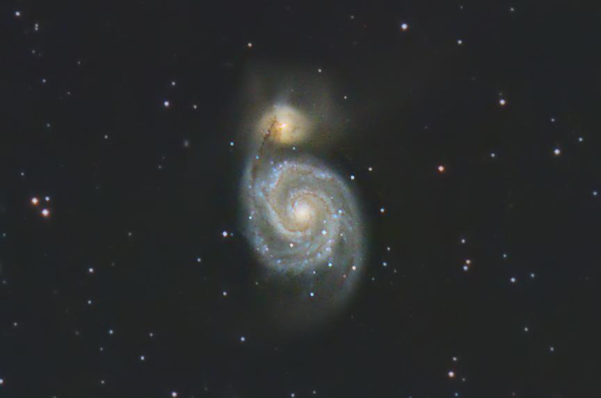 """Галактика М51 """"Водоворот""""  (Whirlpool Galaxy M51)"""