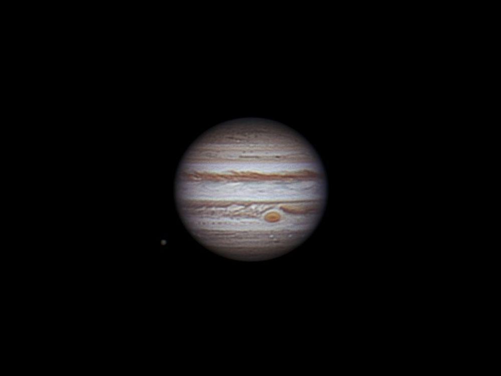 Jupiter and Callisto, 4 january 2014 , 00:09-00:59