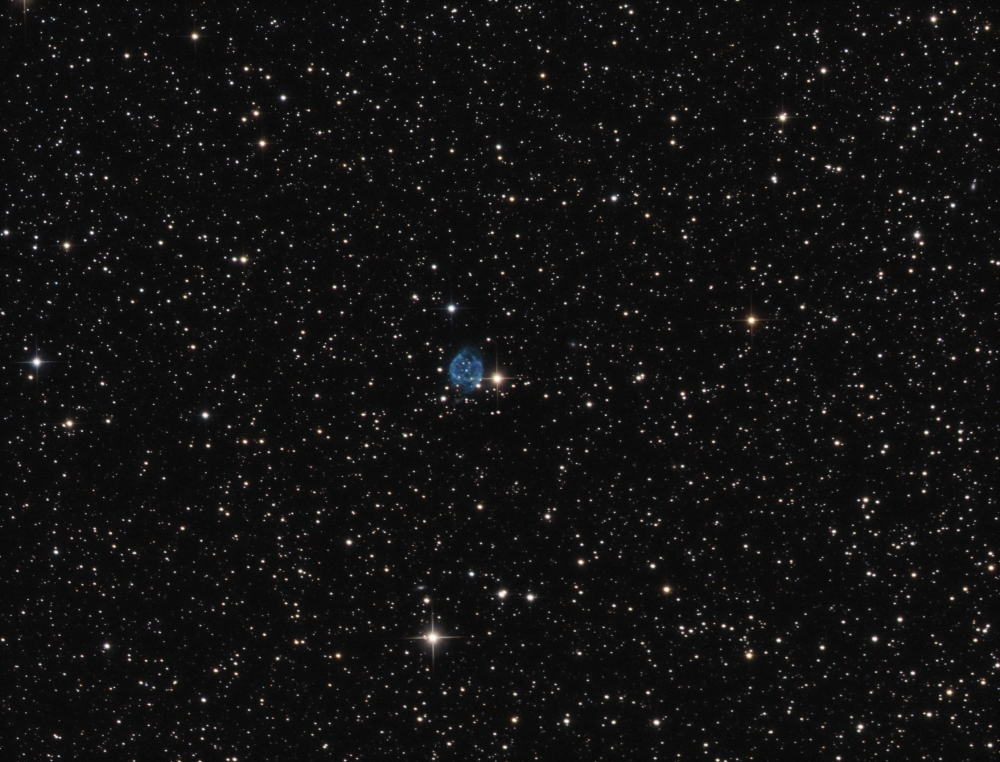 Abell 72 Planetary nebula in Delphinus OIIIRGB
