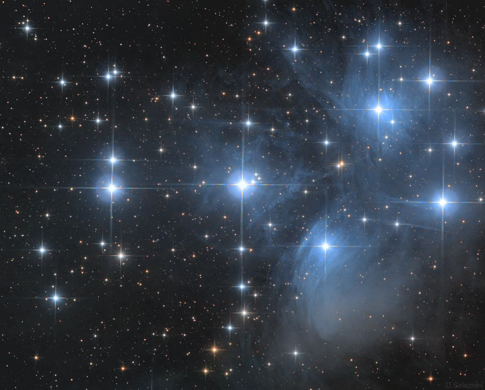 М45 Плеяды - астрофотография