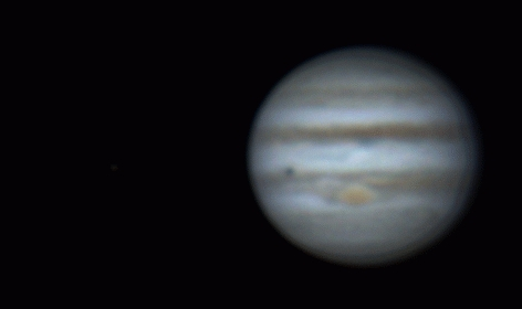 Rotation of Jupiter, Europa and Io (9 dec 2014, 5:11-6:54)