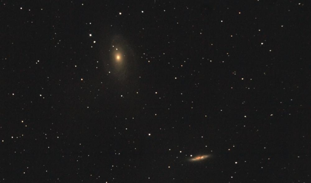 M81, M82 Галактики Бодэ в созвездии Большой медведицы.. 10.05.2021