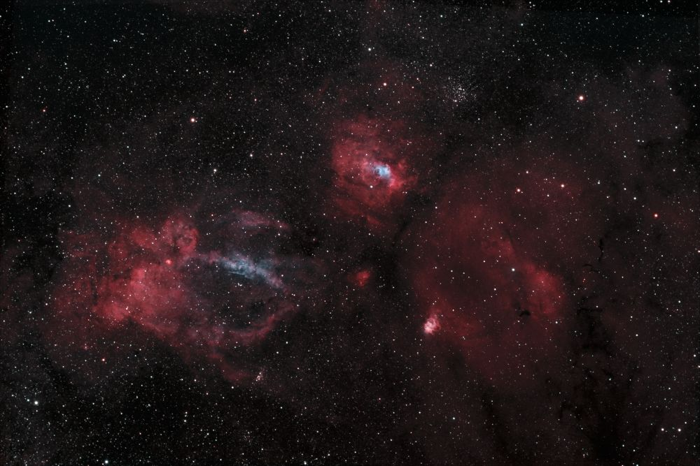 Lobster Claw, Bubble, Northern Lagoon, SH2-157, C11, M52, NGC 7538