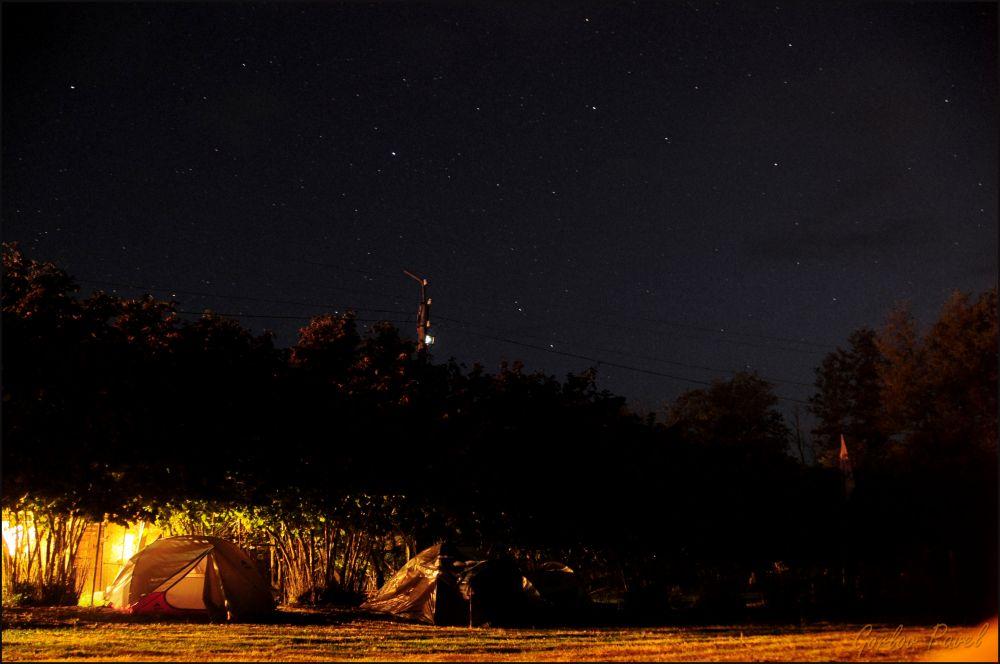 Палатки СтарФеста под звёздным небом Абхазии