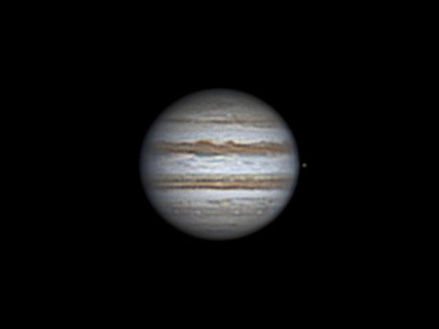 Jupiter and Io (14 may 2015, 21:11, UTC+3)
