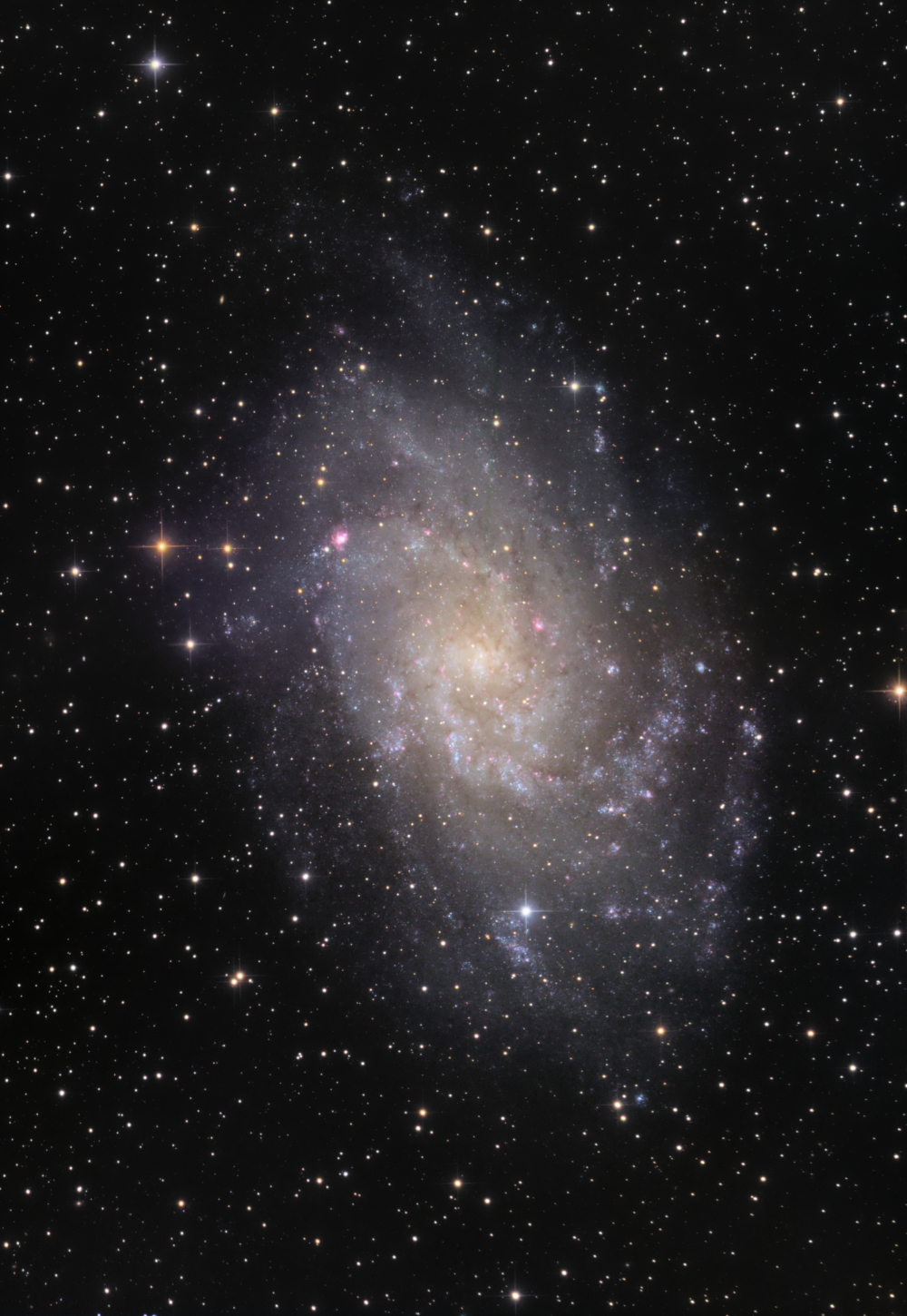 M 33 Triangle galaxy LRGB 2 pannel mosaic