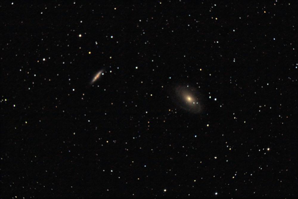 M81, M82 Галактики Бодэ в созвездии Большой медведицы.. 10.09.2020