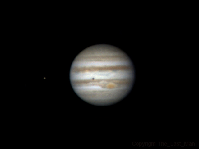 Jupiter and shadow of Europa (9 dec 2014, 5:45)