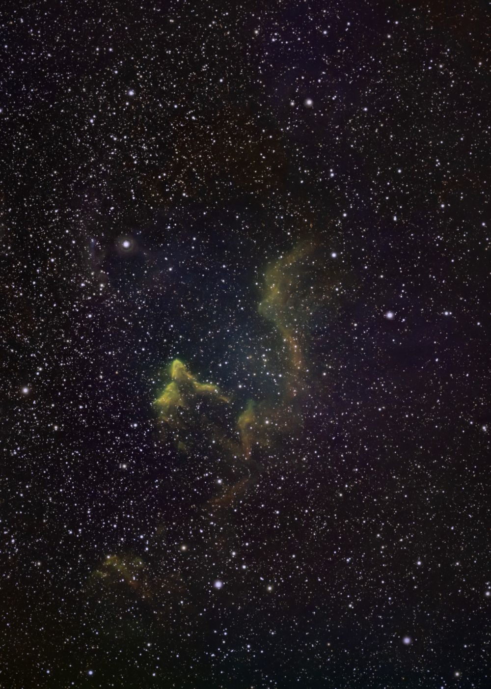Призрак Кассиопеи IC 59 и 63