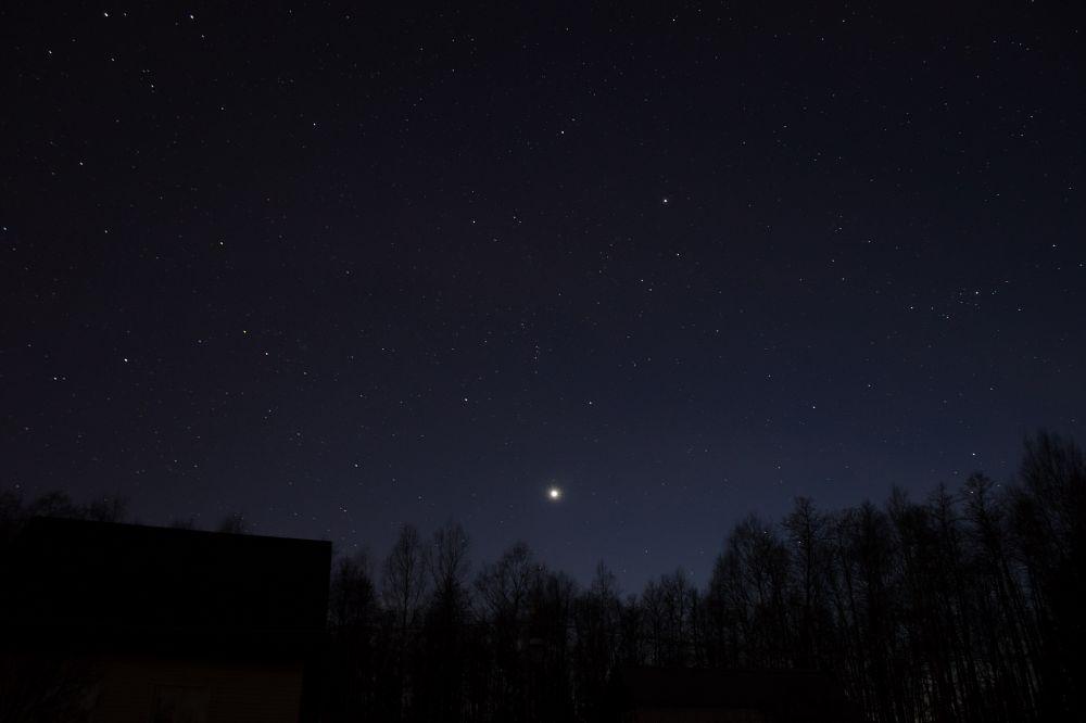 Венера среди звезд 22.04.2020