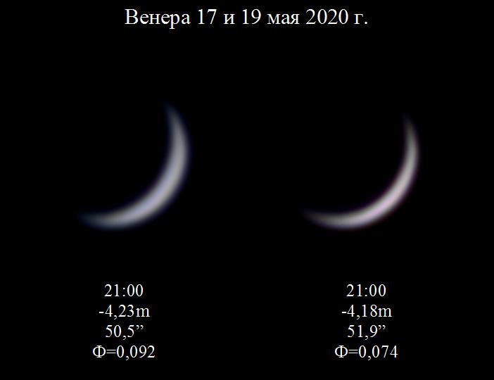 Венера в конце мая 2020 г.