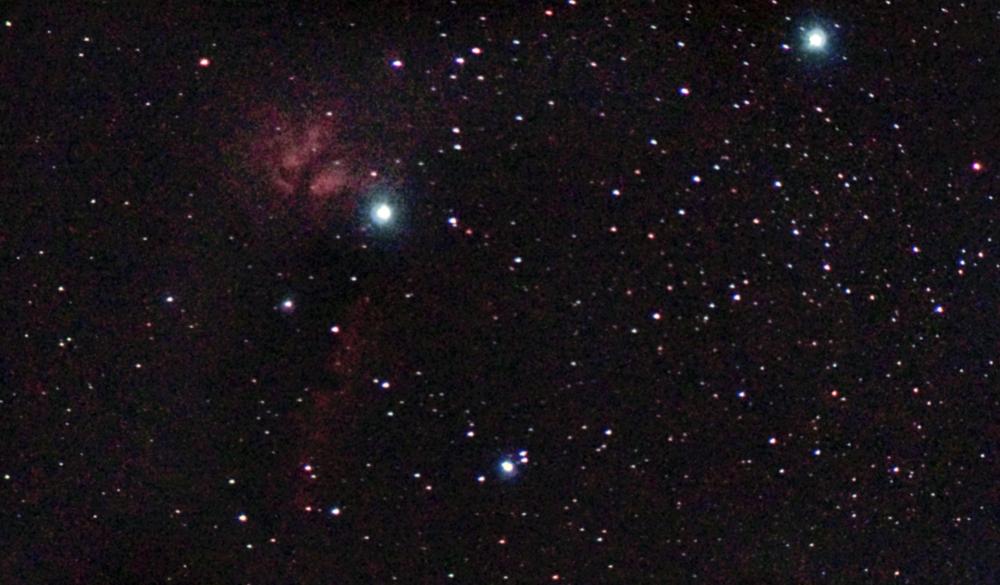 Туманности Пламя и Конская голова в созвездии Ориона. 24.02.20