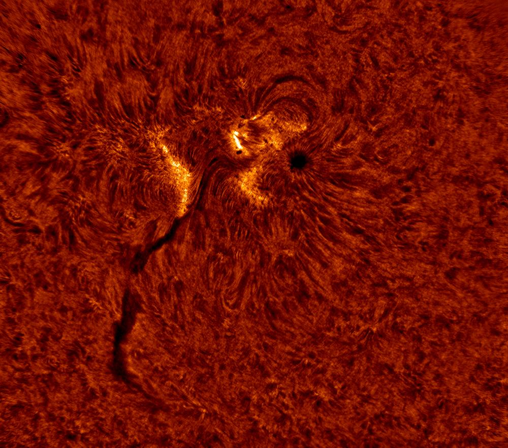2020.06.08 Sun AR12765 H-Alpha (color)