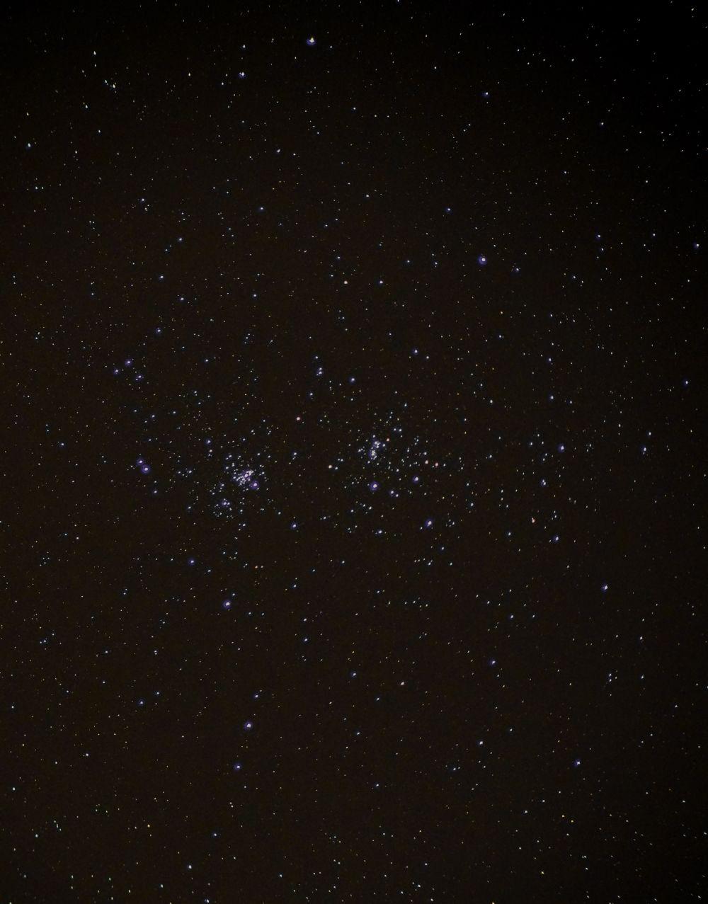 NGC 869 и NGC 884 рассеянное скопление Хи и Аш Персея.