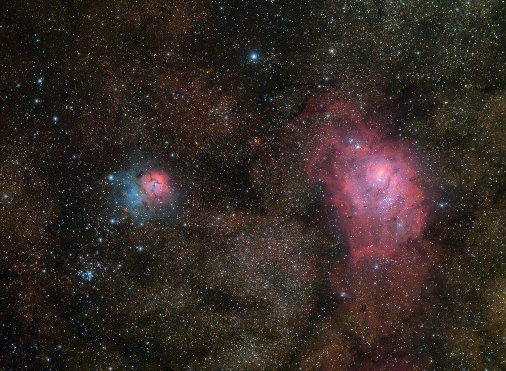 Туманности М8 и М20 - астрофотография