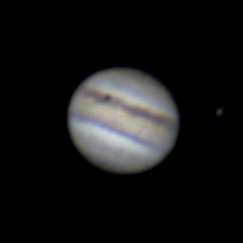 Юпитер + Ганимед + тень Ио