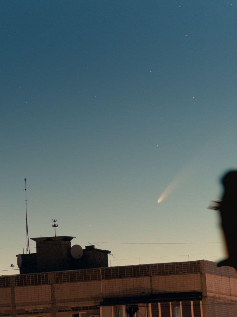 Evening comet C/2020 F3 (NEOWISE) 11.07.2020