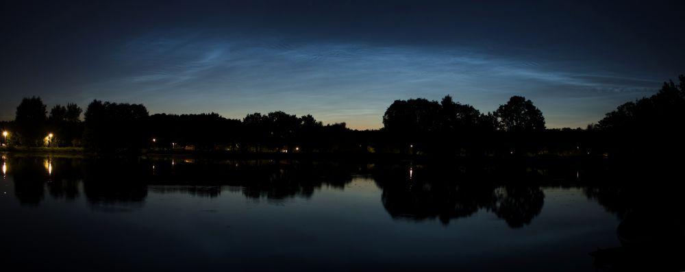 Серебристые облака над Москвой 23.06.2020