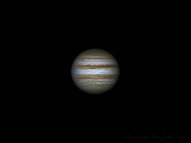 Jupiter, 14 january 2015, 23:10 (4 frames on Winjupos)