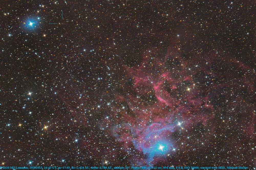 P/2020 M2 Lemmon near IC 405 the Flaming Star Nebula