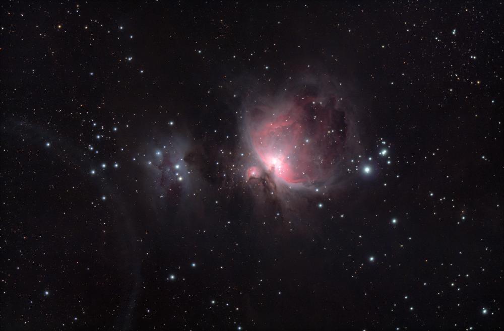 M42 туманность Ориона и NGC 1977 Бегущий человек
