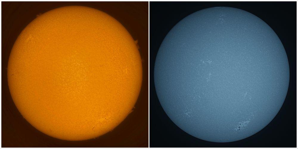 Солнце 31.08.2021 в H-alpha и CaK
