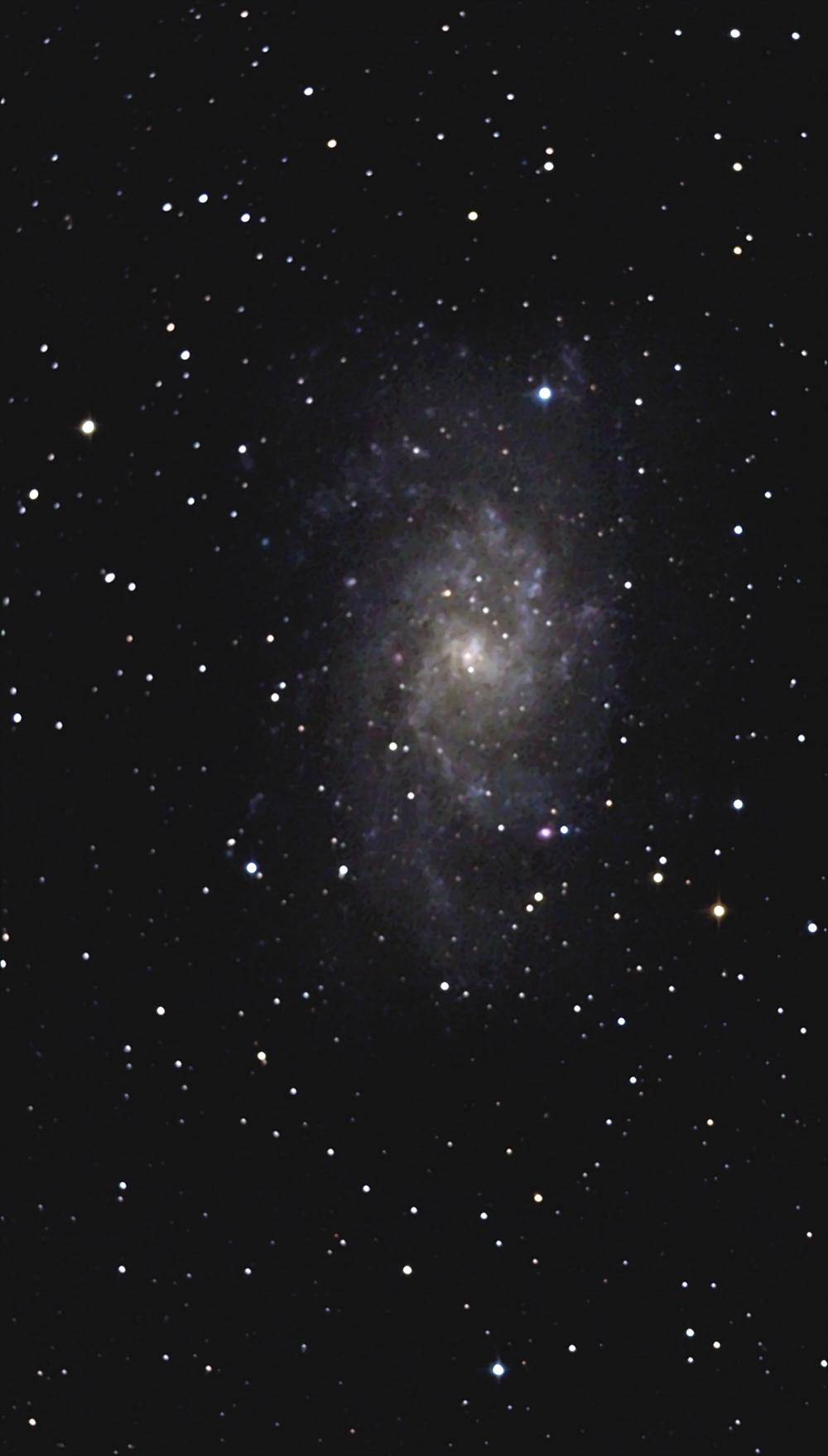 Галактика М33 в Треугольнике. 10,10,2021