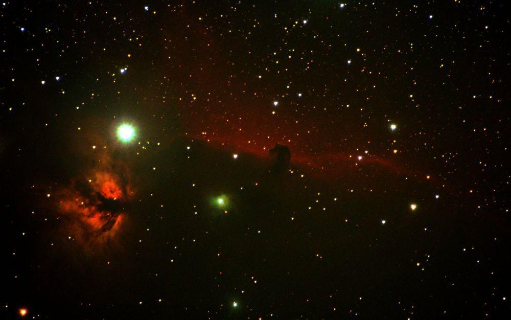 IC434, NGC2024 - Туманность Конская голова и туманность Пламя
