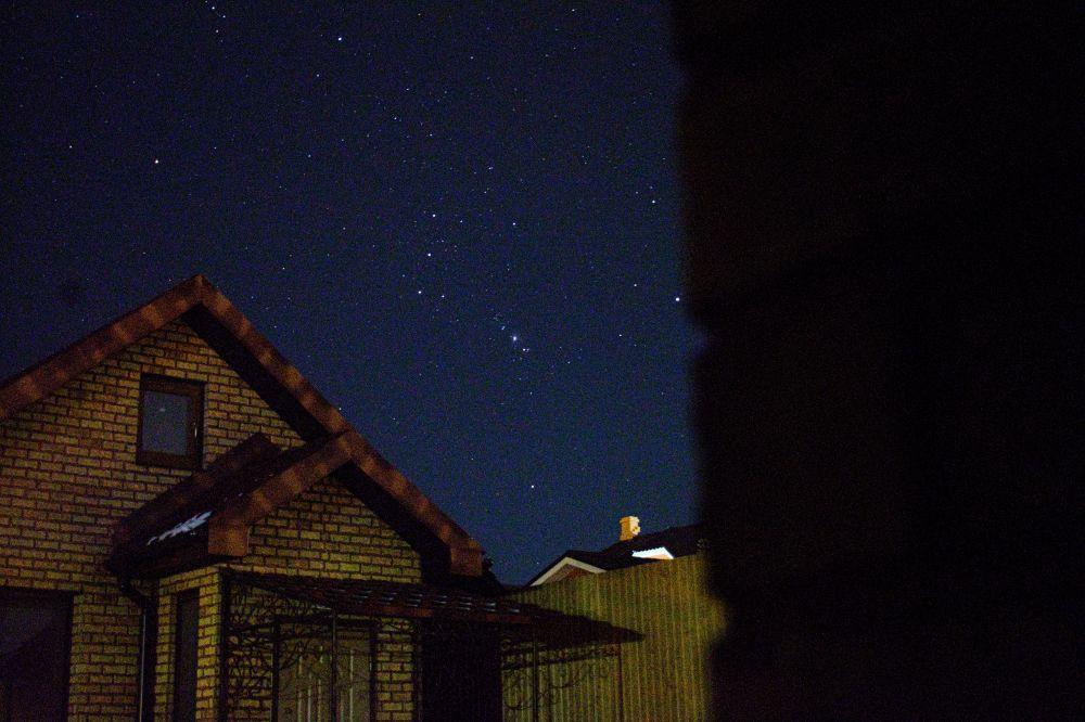 Созвездие Орион и Большая Туманность Ориона.
