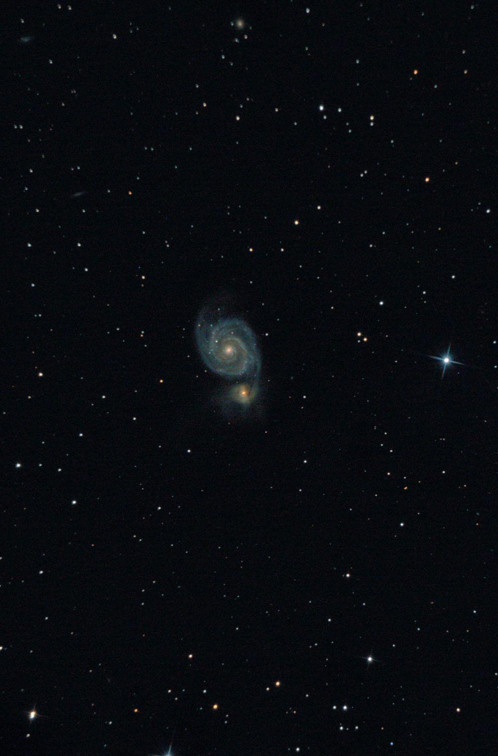 """Галактика М51 """"Водоворот""""."""