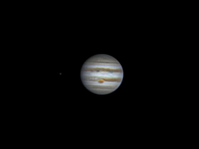Jupiter, Europa and GRS (10 may 2015, 20:52)