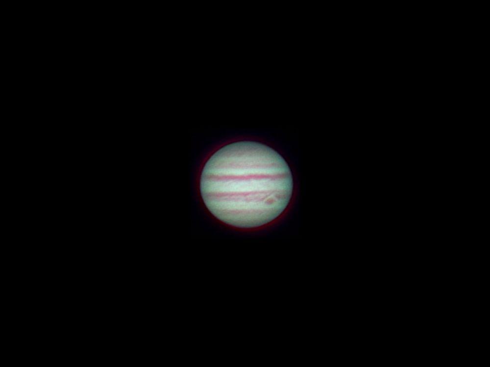 Jupiter with fast achromat Celestron 102660, 20 dec 2013, 00:14