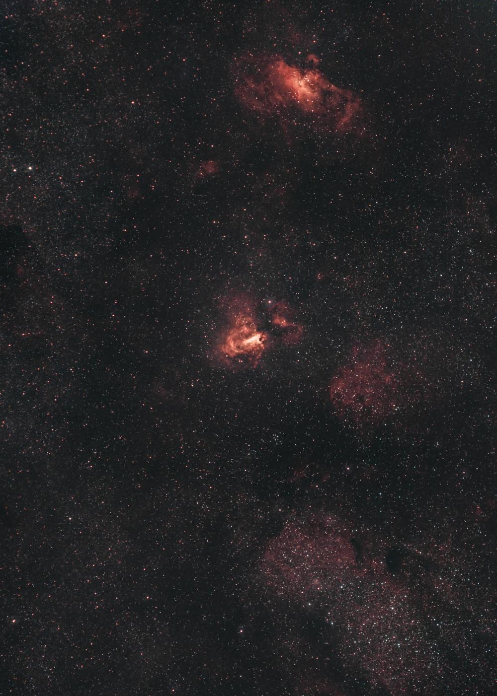 Туманности М16 и М17 (NGC6596, M24, NGC6605,IC4701)