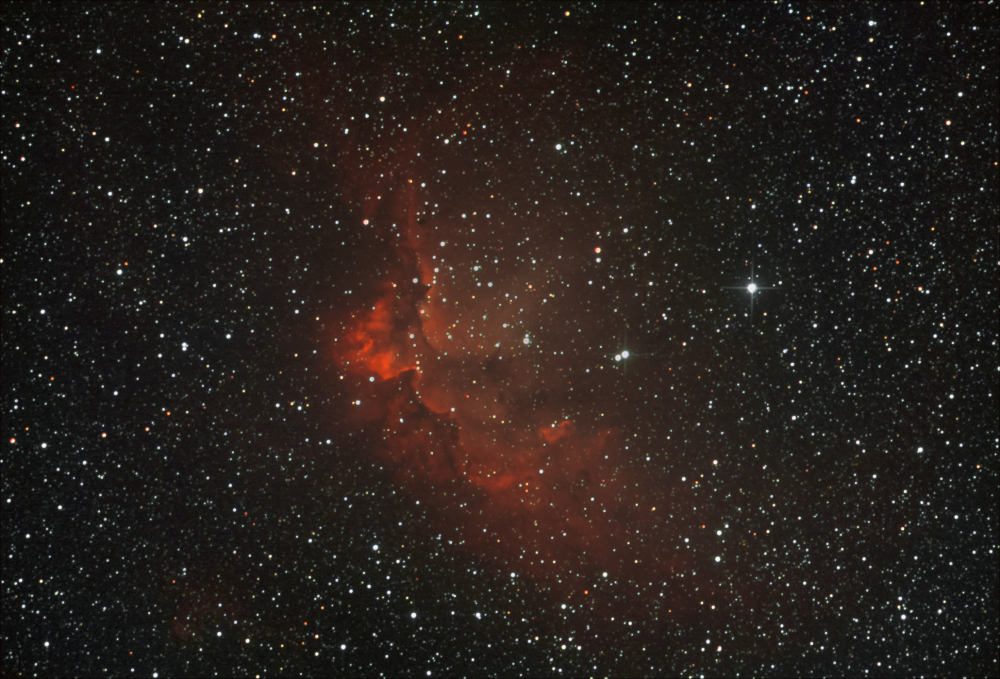 NGC7380. Туманность Колдун.