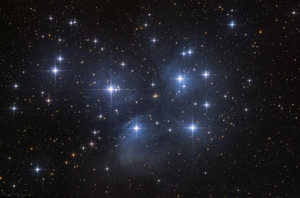 """Рассеяное звездное скопление М45 """"Плеяды"""" - астрофотография"""