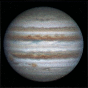 Rotation of Jupiter, 1 january 2013, 22:44-23:18