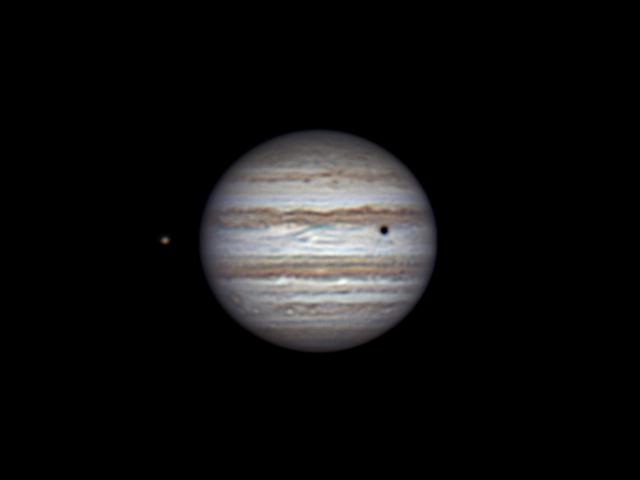 Io, Jupiter and shadow of Callisto (26 feb 2015, 21:45)