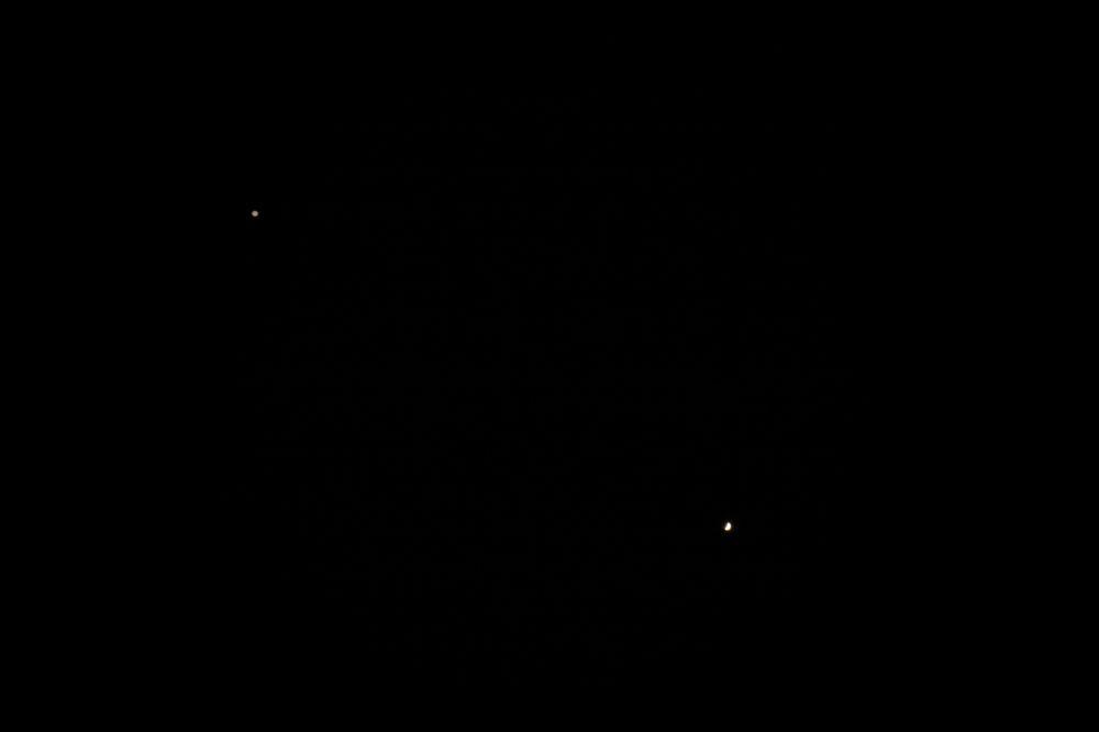 Jupiter and Venus (29 june 2015, 21:12)