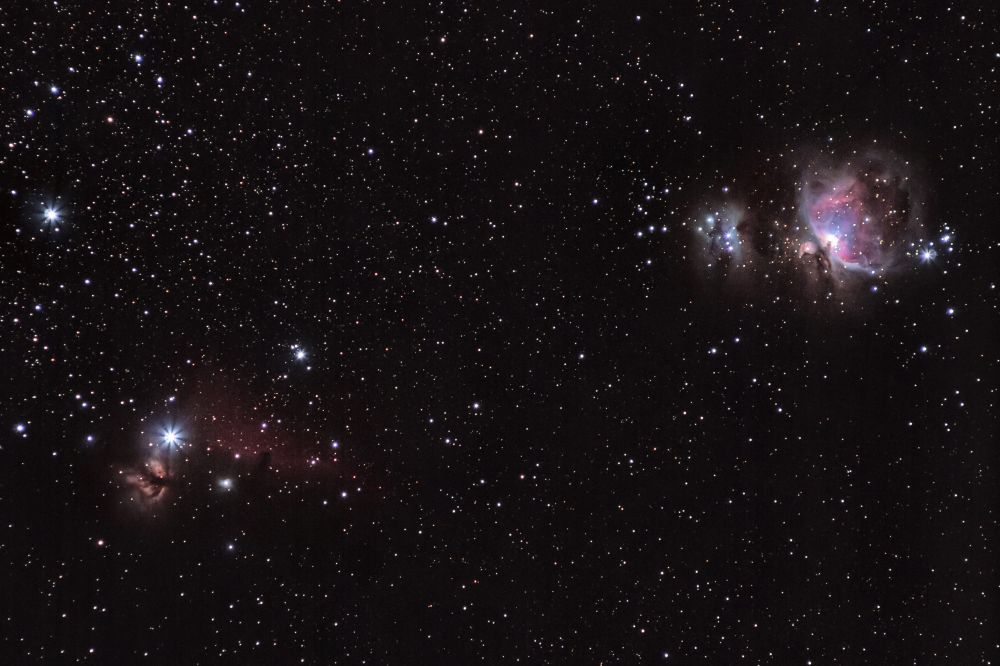 Часть облака Ориона M42/M43/NGC 1977/NGC2024/IC434