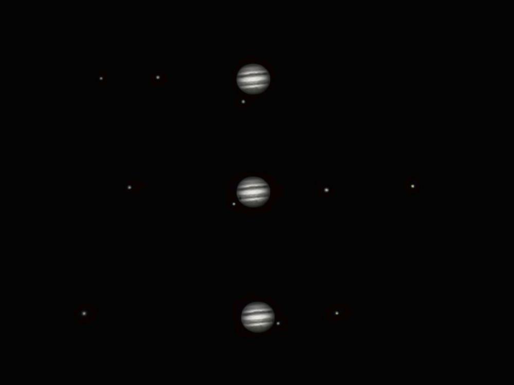 Орбитальное движение спутников Юпитера