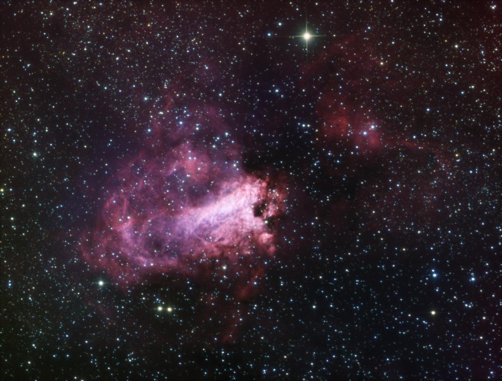 M 17 nebula HaLRGB