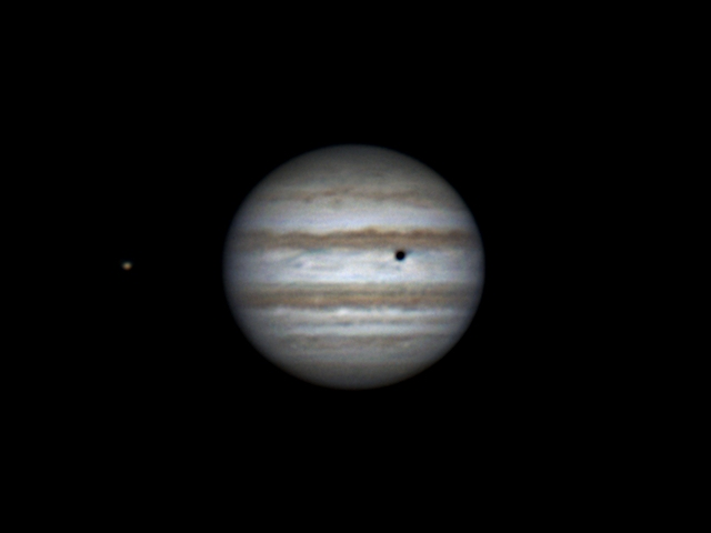 Io, Jupiter and shadow of Callisto (26 feb 2015, 21:16)