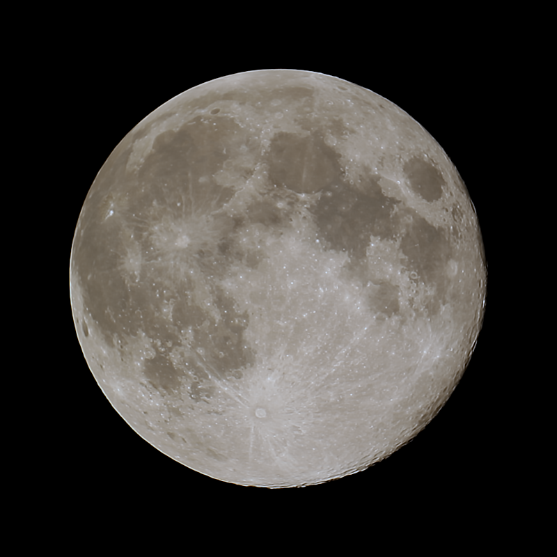 Full moon 19/04/2019 - астрофотография