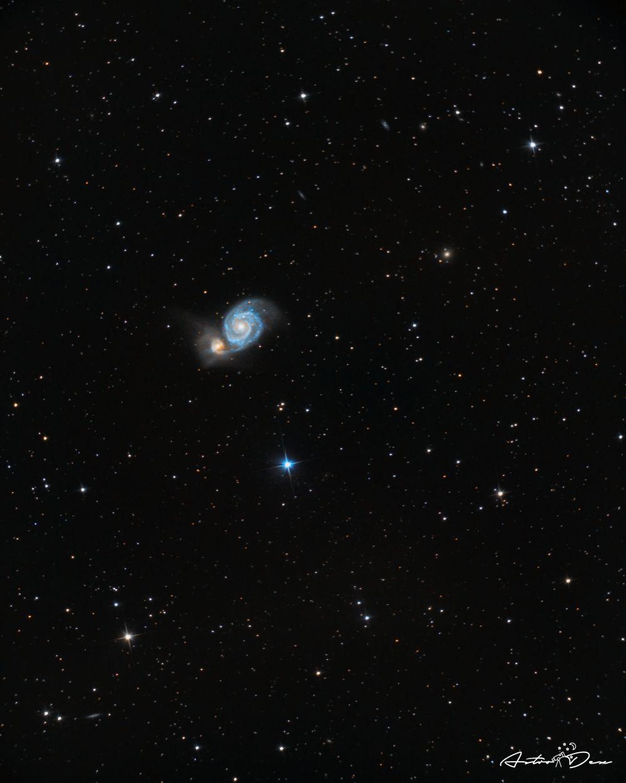 M51 Whirlpool galaxy & NGC5195 galaxy