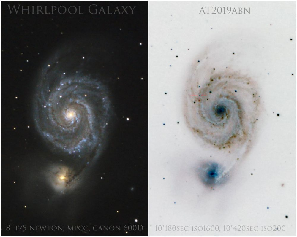 Whirpool Galaxy M51, AT2019abn
