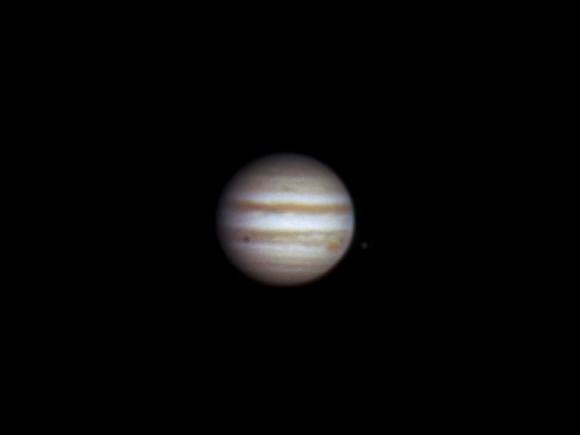 Jupiter and shadow of Europa, 31 march 2014, 22:26