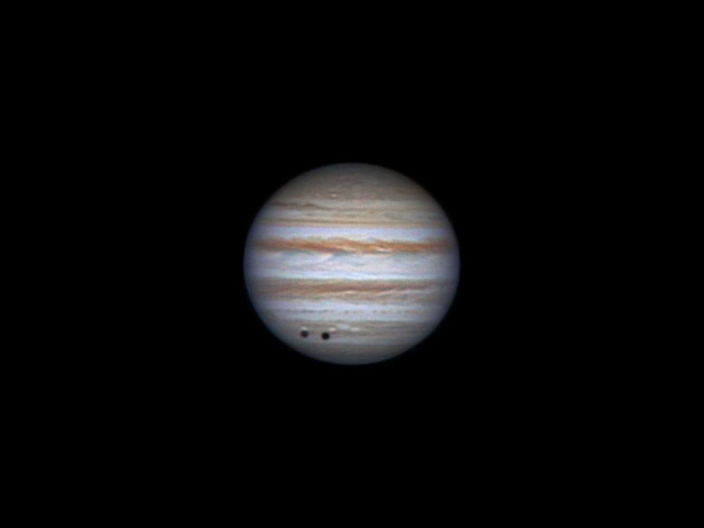 Jupiter and shadow of Callisto