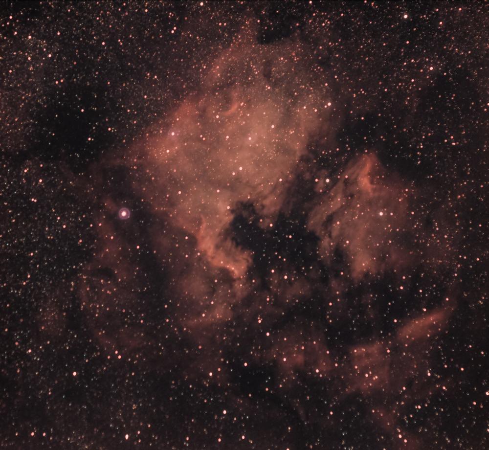 NGC 7000 - туманность Северная Америка и  IC 5070 - туманность Пеликан