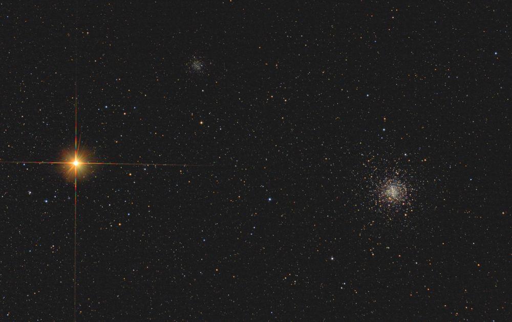Globular clusters M4 & NGC6144 & Antares
