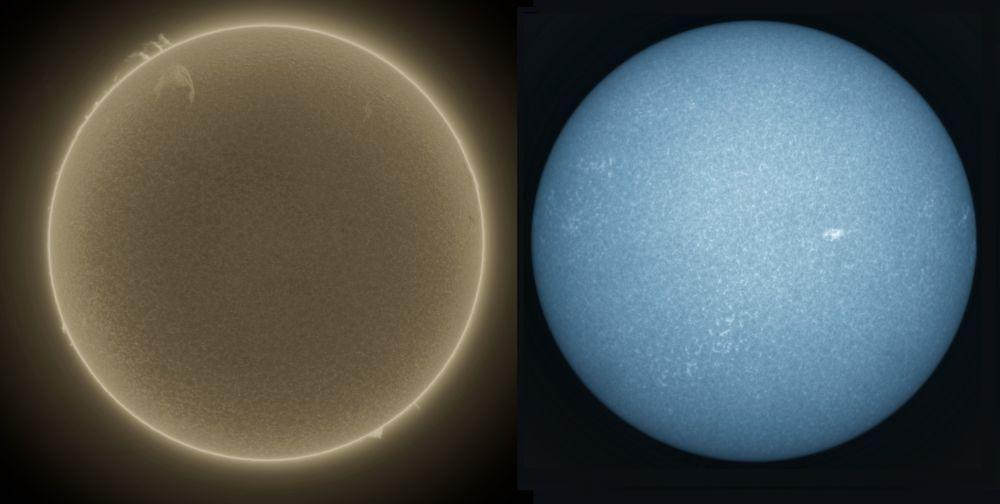 Солнце 20.08.2021 в H-alpha и CaK